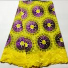 African Fabric Swiss Voile Lace white Yellow Purple African Lace Fabric 5 yards