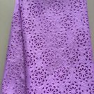 African LaceFabric/guipure lace fabric/Purple Swiss Big Lace fabric/5 yards