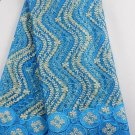 african lace fabric/French Lace fabric/ Blue African Lace fabric/5 yards