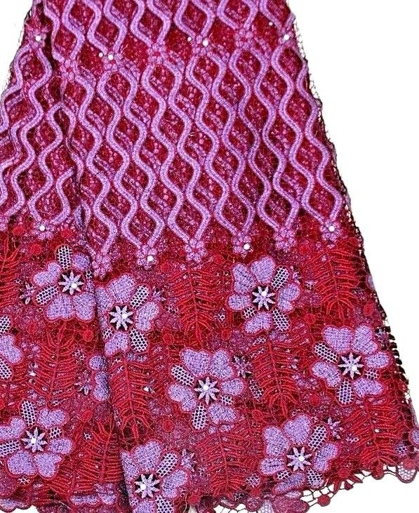 African Lace Fabric/ Guipure Lace Fabric/Swiss Lace fabric/African fabric/5yards