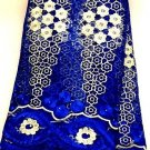 African Lace Fabric/Tulle  French Lace Fabric/Royal blue/African fabric/5yards