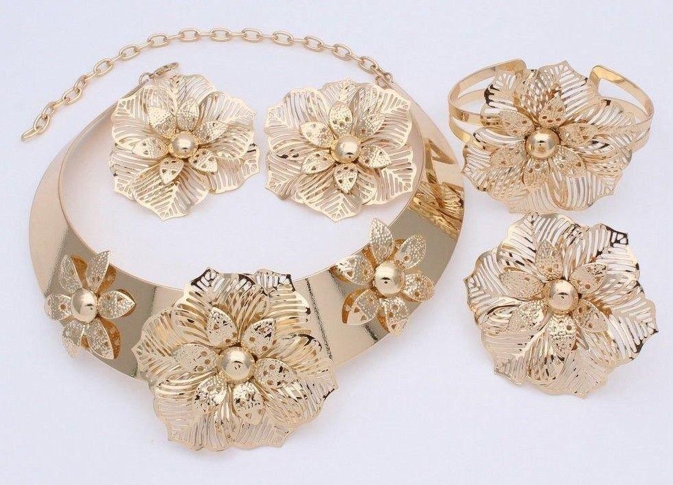 African Jewelry set, Gold jewelry set, wedding jewelry set, women jewelry set