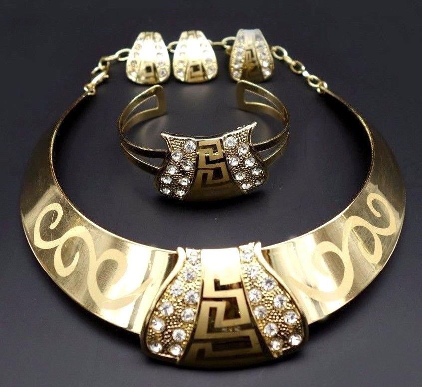 African Jewelry set/Gold jewelry set/wedding jewelry set/NIgeria wedding jewelry