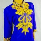 Women Dress/African dress/Blue women dress/African women dress/African Fabric XL