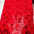 African lace fabric/Swiss Lace fabric/Red Tulle Lace fabric/French Lace/5 yards