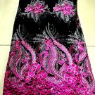 african fabric lace/Swiss /Tulle Lace Fabric/Fuchia pink Swiss Voile Lace/ 5yard