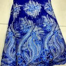 African Lace Fabric/Blue Tulle French Lace Fabric/African fabric/5yards