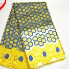 African Lace Fabric/Tulle French Lace Fabric/Swiss Lace fabric/Yellow Lace/yards