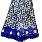 African lace fabric / Swiss Lace fabric / Blue French Tulle Lace fabric /5 yards