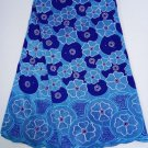 African Lace Fabric / Swiss Voile Lace / Blue African Lace Fabric / 5yard