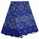 African Lace Fabric / Swiss Lace Fabric / Blue African Lace Fabric / 5 yards