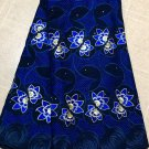 african lace fabric /  lace fabric / Blue Swiss Voile Lace Fabric / 5 yards