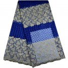 African fabric lace/Swiss lace fabric/Blue Tulle Lace fabric/5 yards