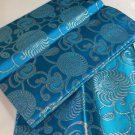 african headties gele & ipele, Blue Swiss Sego Headties & Ipele, 2pieces set