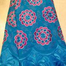 African Lace Fabric/Swiss Voile Lace/ Blue African Lace Fabric/5yards