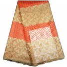 African Lace Fabric / Swiss Lace Fabric / beadead tulle wth stones / 5 yards