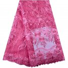 African Lace Fabric / Swiss Lace Fabric / Tulle Lace Fabric with beads & stones