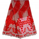 African lace fabric/Swiss Lace fabric/Red Tulle Lace fabric /5yards