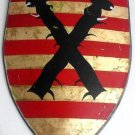 Large Medieval Armory Handcrafted Handpainted Shield King of Valachia Bulgaria