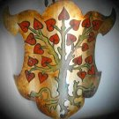 Medieval Armory Handcrafted Handpainted Shield Tree Gold Renaisance Faire