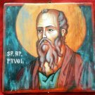 Apostle Paul Handpainted Orthodox Church Icon on Wood