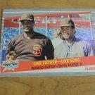 Vintage Like Father-Like Sons Alomar Baseball Card 1989