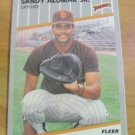 Vintage Sandy Alomar JR. Baseball Scorecard 1989