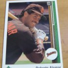 Vintage Roberto Alomar Baseball Scorecard 1988