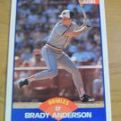 Vintage Brady Anderson Baseball Scorecard 1989