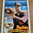 Vintage Sandy Alomar Baseball Scorecard Padres 1988