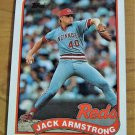 Vintage Jack Armstrong Baseball Scorecard 1988