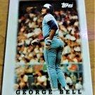 Vintage Collectible Mini Baseball Scorecard George Bell 1987 #37