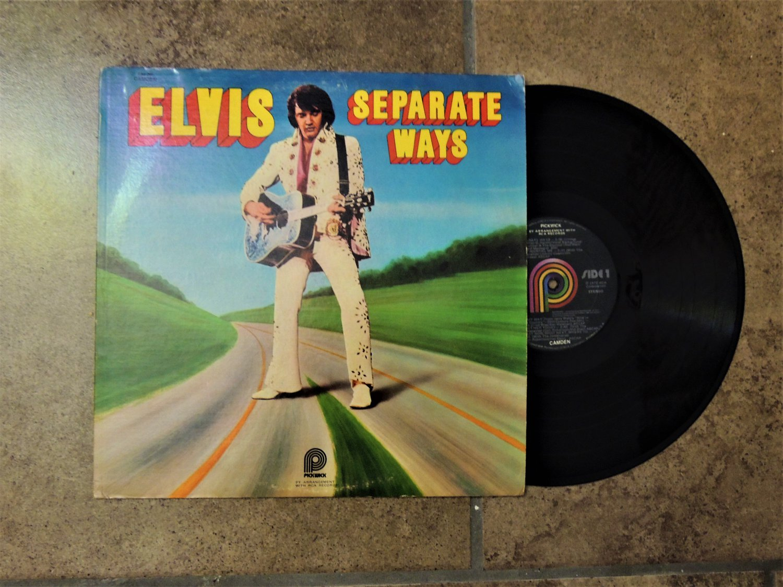 Vintage Elvis Record Album-Separate Ways