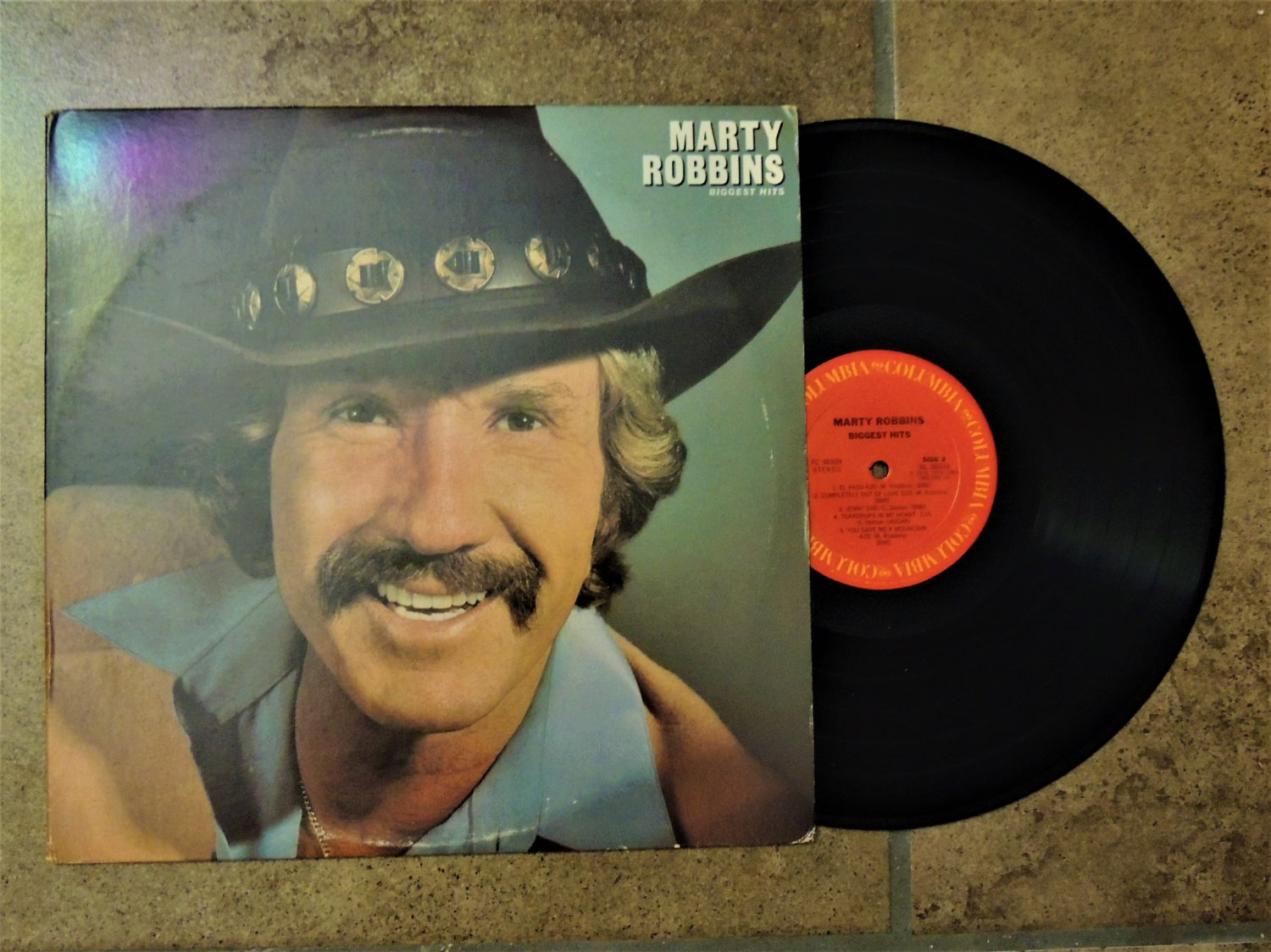 Vintage Marty Robbins Record Album-Biggest Hits