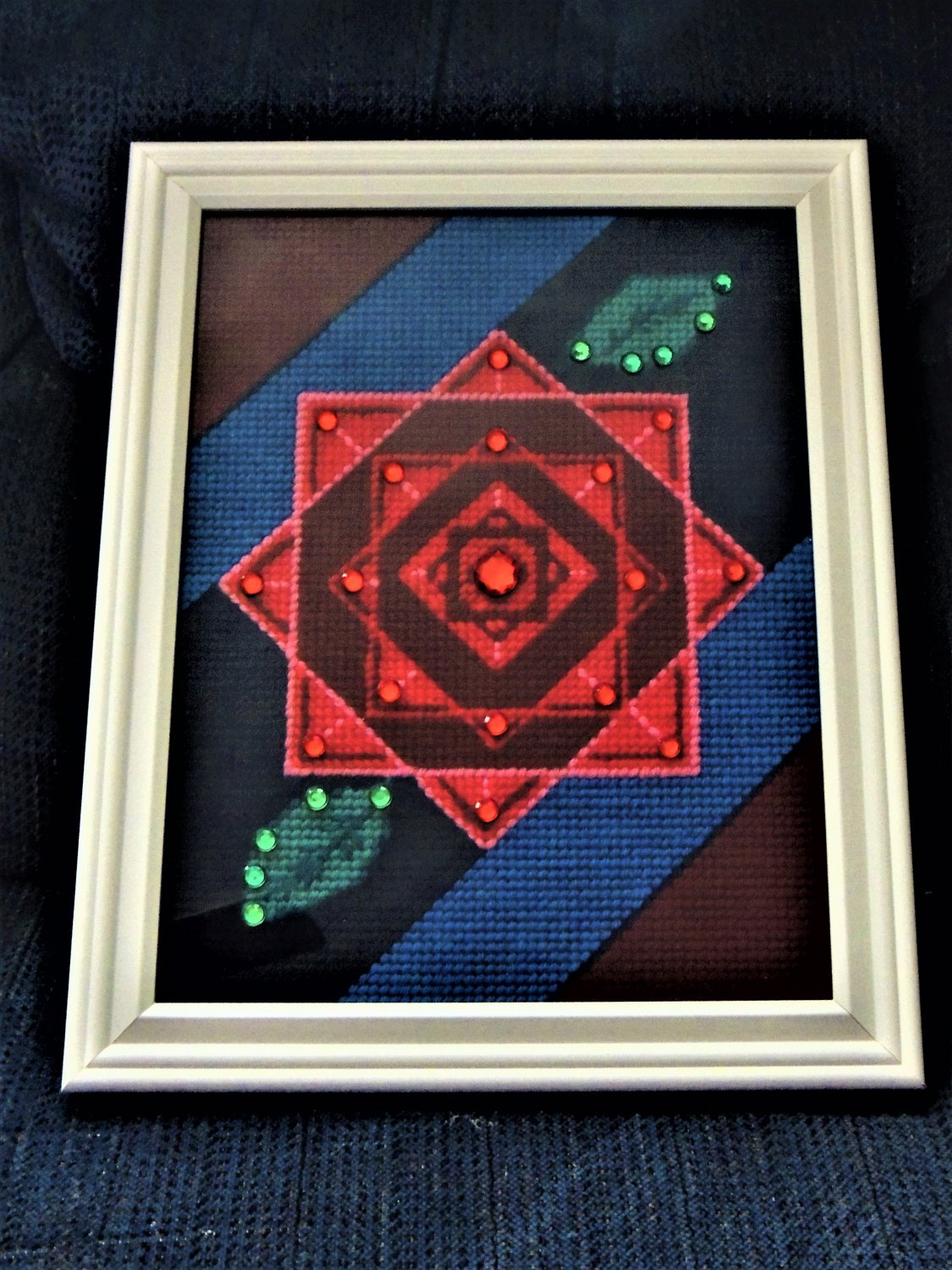 """50% Off! Handcrafted Collectible Wall Art """"Geo Rose"""" Numbered and Signed 5"""