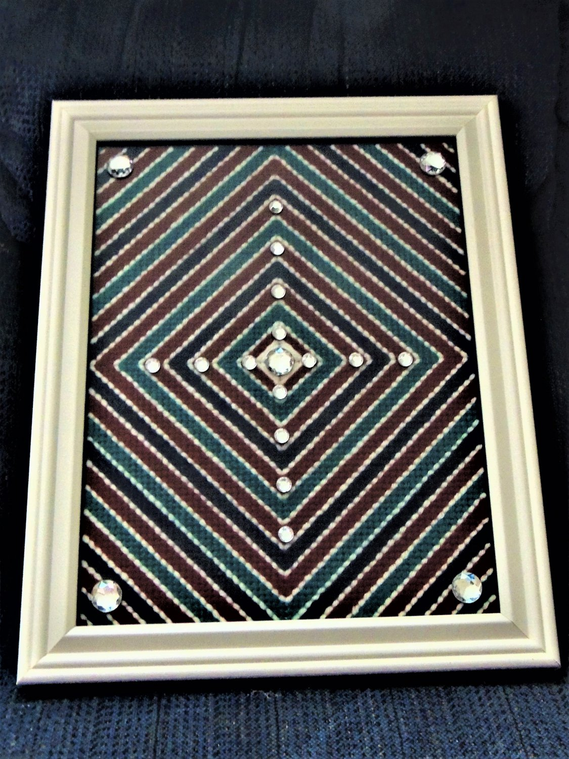 """Handcrafted Collectible Wall Art """"Diamonds Are Forever"""" Numbered and Signed 2"""