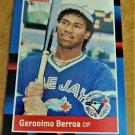 Vintage Geronimo Berroa Baseball Scorecard 1988 #659