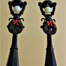 Christmas Village Miniature Collectible- Lamp Posts Set of 2