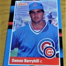 Vintage Damon Berryhill Baseball Scorecard 1988 #639