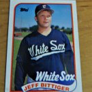 Vintage Jeff Bittiger Baseball Scorecard 1989 #209