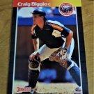 Vintage Craig Biggio Baseball Scorecard 1989 #561