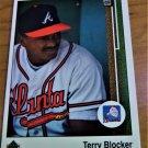 Vintage Terry Blocker Baseball Scorecard 1988 #399