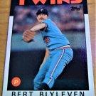 Vintage Bert Blyleven Baseball Scorecard 1986 #445