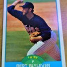 Vintage Bert Blyleven Baseball Scorecard 1989 #215