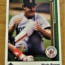 Vintage Wade Boggs Baseball Scorecard 1988 #389