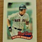 Vintage Wade Boggs MINI Baseball Scorecard 1988 #45