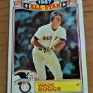 Vintage Wade Boggs All Star Baseball Fact Card 1987 #4