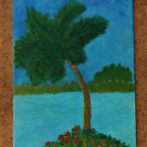 """Palm Tree Island 5"""" x 7"""""""