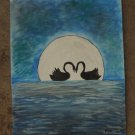 Moonlight Swans