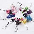 10pcs Wholesale New Style Voodoo Doll Keychains Little Voodo 2 Dolls